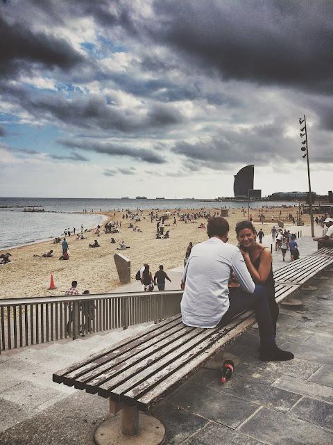 Barceloneta plajı