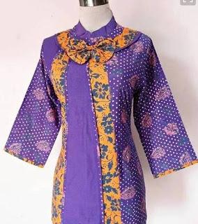 Contoh Desain Baju Kerja Batik Guru