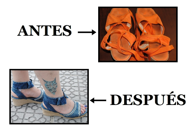 DIY refashion sandals