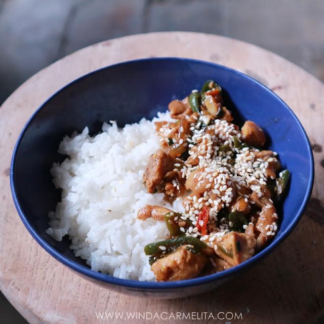resep ayam teriyaki, chicken teriyaki, rice bowl, ayam teriyaki, resep ayam teriyaki, cara membuat ayam teriyaki, ayam rica-rica, ayam rica, mangut, spicy chicken
