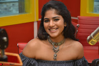 Mega Akash in a sleeveless Off Shoulder Cute Dress Stunnign beauty at Radio Mirchi Promoting Movie LIE ~ Celebrities Galleries 003.JPG