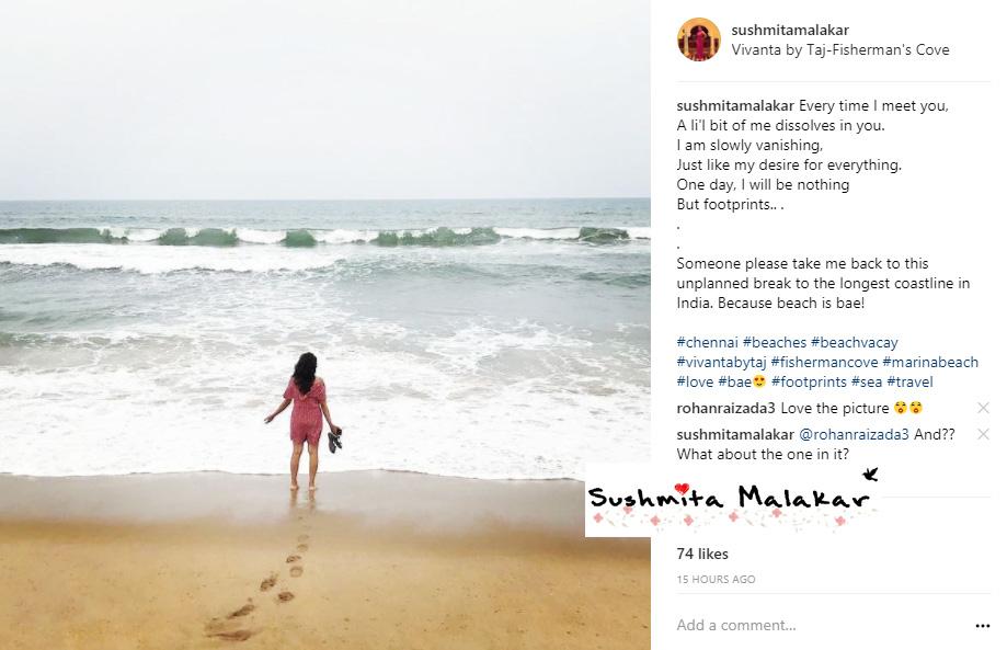 The Mini Instagram Post 7. Footprints.