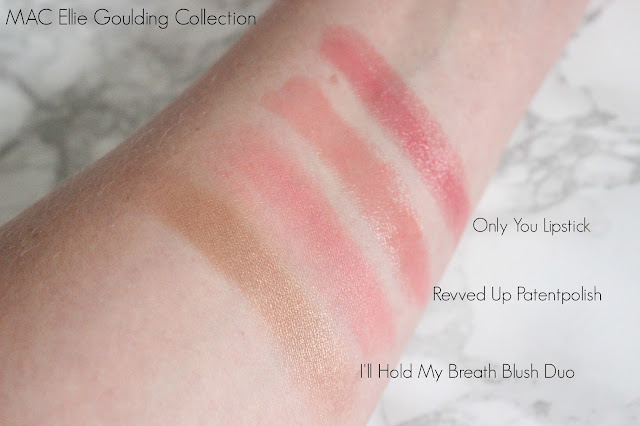MAC x Ellie Goulding Collection Swatches