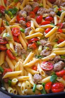 Snakebite Sausage and Pasta: Savory Sweet and Satisfying