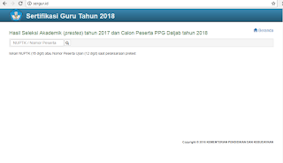 http://sergur.id/ (CEK NILAI PRETES PPG 2018)