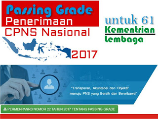 Download Passing Grade Seleksi Kompetensi Dasar CPNS  Download Passing Grade Seleksi Kompetensi Dasar CPNS 2017