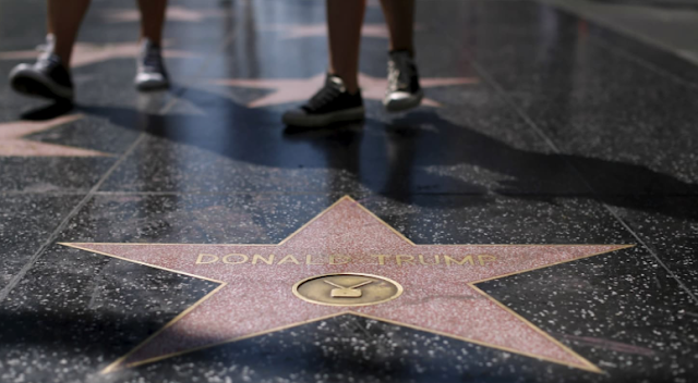 Trump's Star on Hollywood Walk of Fame Destroyed With Pickaxe