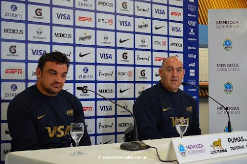 Conferencia de prensa de Ledesma y Creevy - Pumas en Mendoza