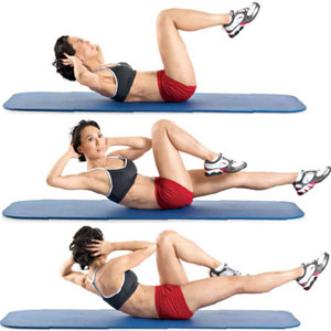 Elbow to Knee Abs Exercise