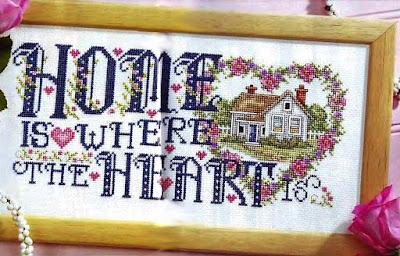 Casa dolce casa -schema punto croce free