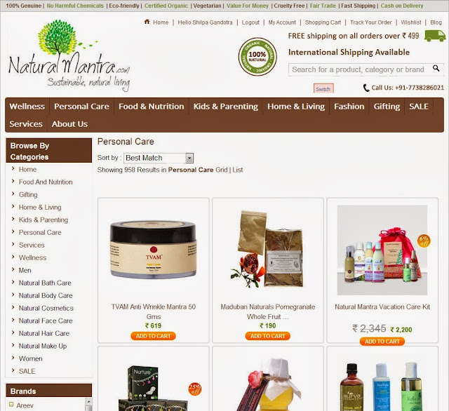 Natural Mantra - A House Of Organic Products - My Haul