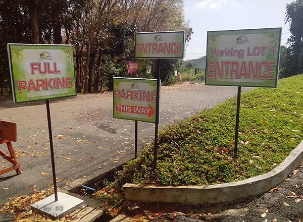 Parking signage of Regina RICA