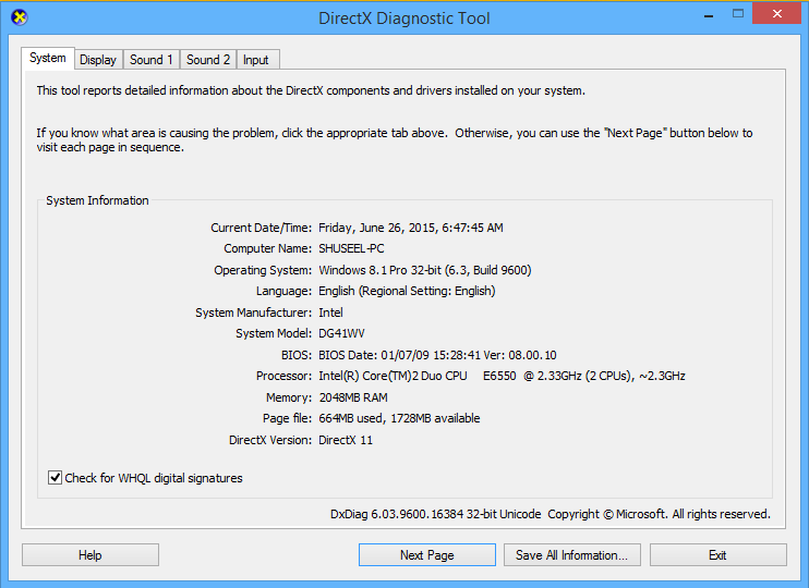 How to Open DirectX Diagnostic Tool