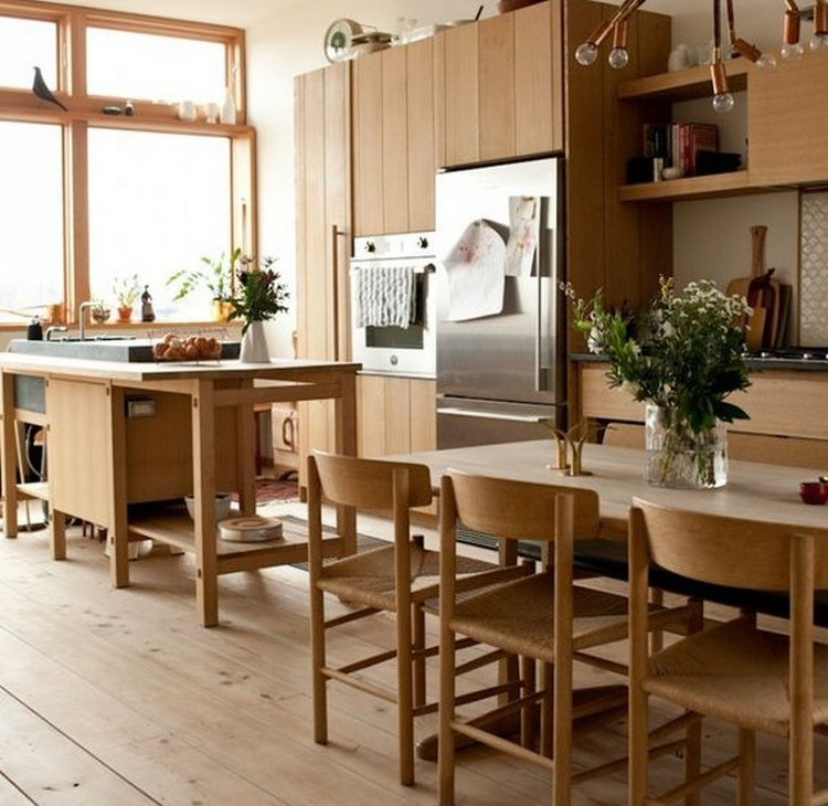 1. Clean kitchen with paper window