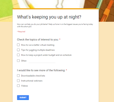 example of a short blog survey poll