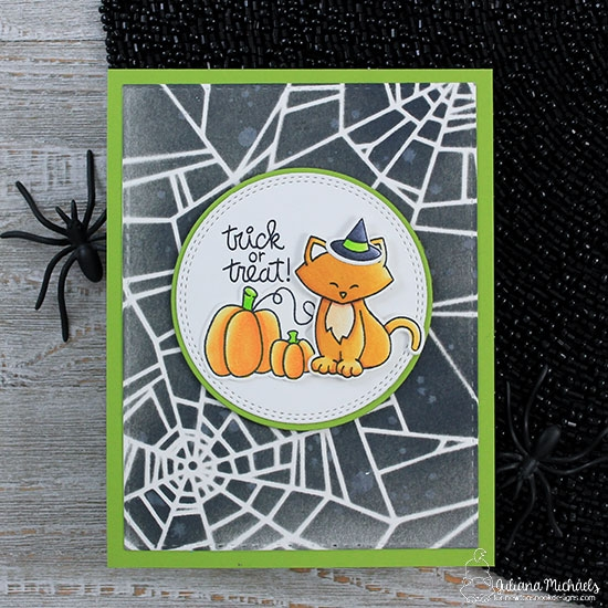 Trick or Treat Kitty Card by Juliana Michaels | Fall-ing for You and Newton's Costume Party Stamp Sets by Newton's Nook Designs #newtonsnook
