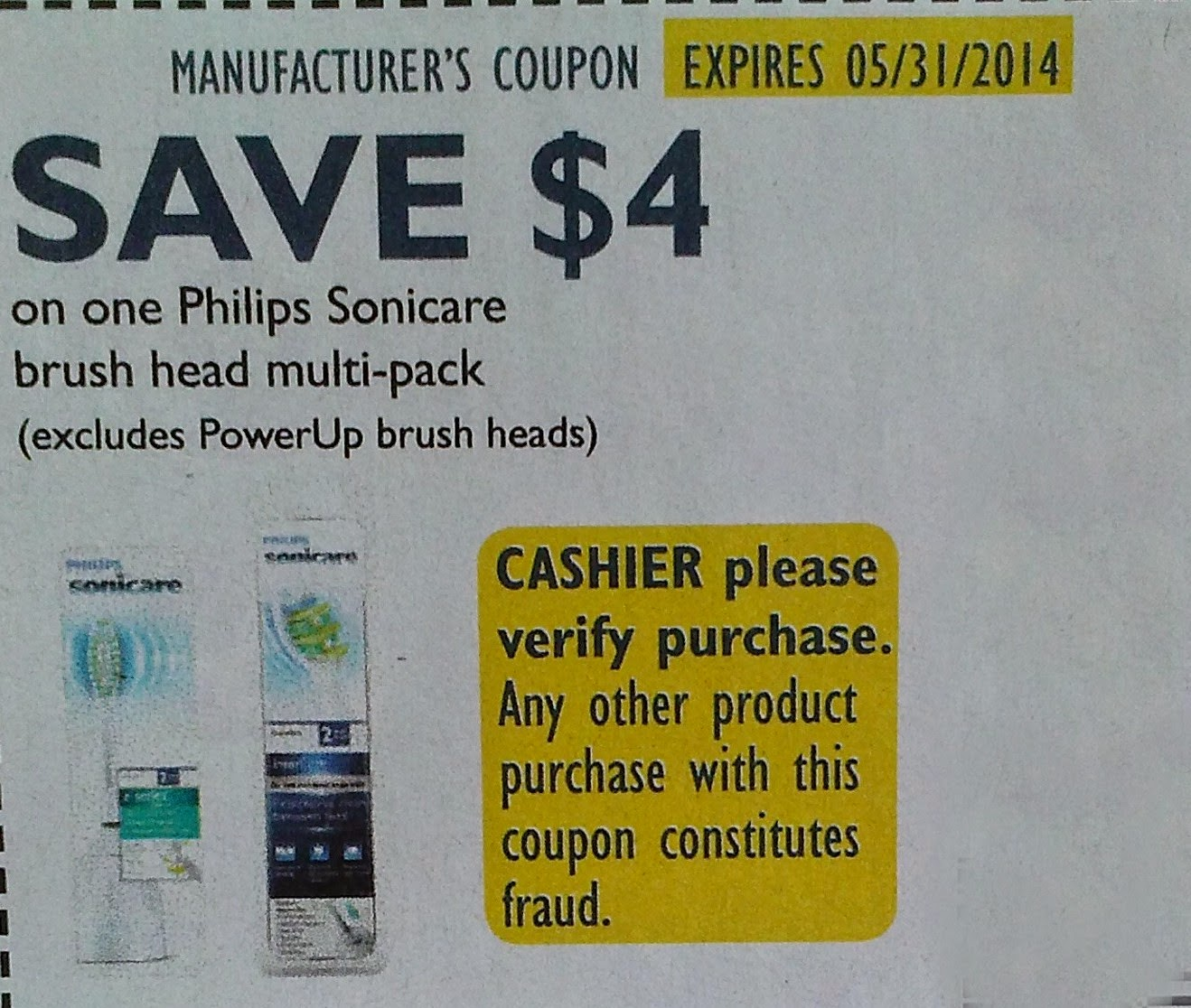 photograph regarding Philips Sonicare Coupons Printable titled Philips sonicare brush brain multi pack printable coupon