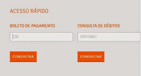 Página de acesso rápido a 2 via e boletos da Energisa Paraíba