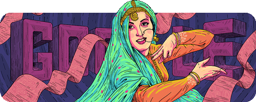 Google Doodle Madhubala February 14 Today's 86th - Birthday