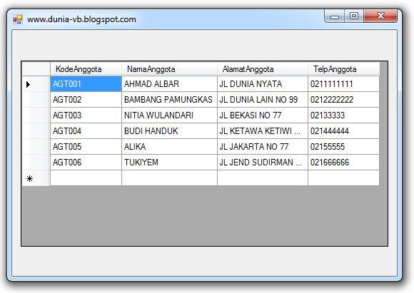 Koneksi Database MySQL Dengan VB .Net
