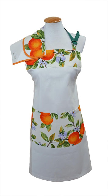 Delantal con naranjas