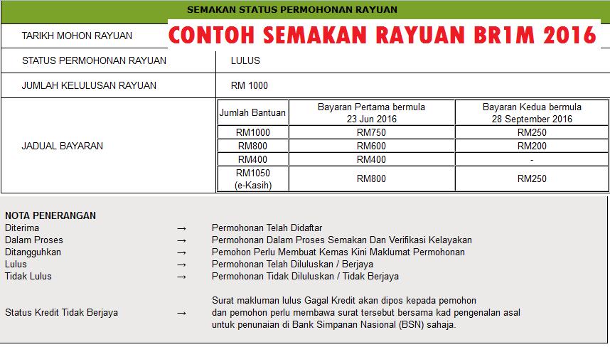 Rayuan Br1m Secara Online Lamaran H
