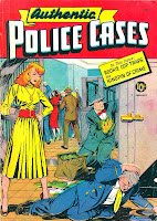 Authentic Police Cases v1 #11 st john crime comic book cover art by Matt Baker