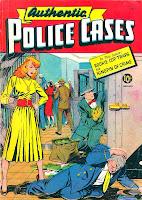 Authentic Police Cases v1 #11 st john crime comic book cover art by Matt Baker