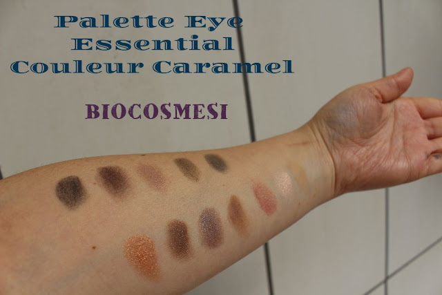 palette eye essential couleur caramel, palette ecobio, make up ecobio