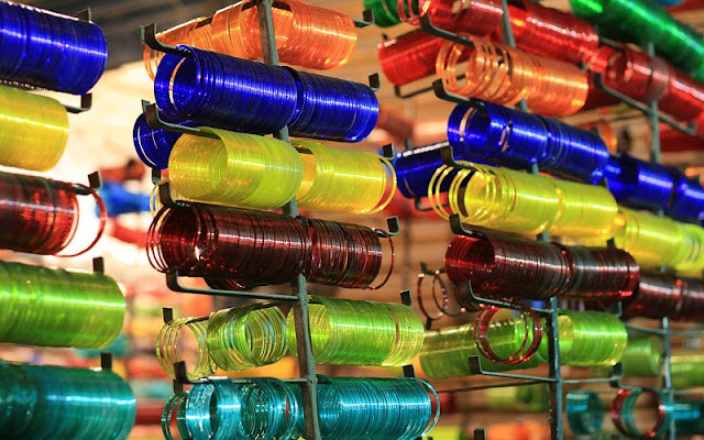The Tinkling Of Colours In Chudi Bazaar Of Hyderabad, Andhra Pradesh