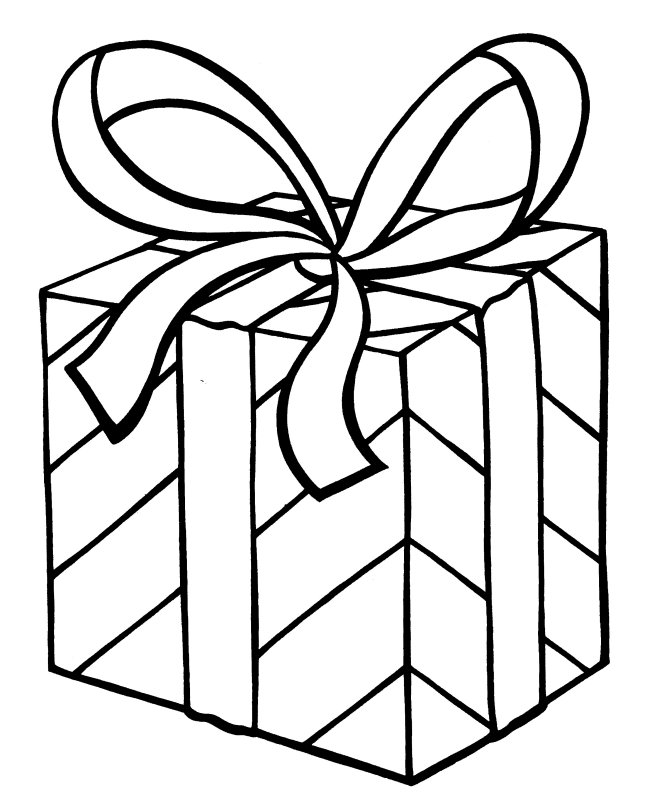 free coloring pages present | kerst kleurplaten