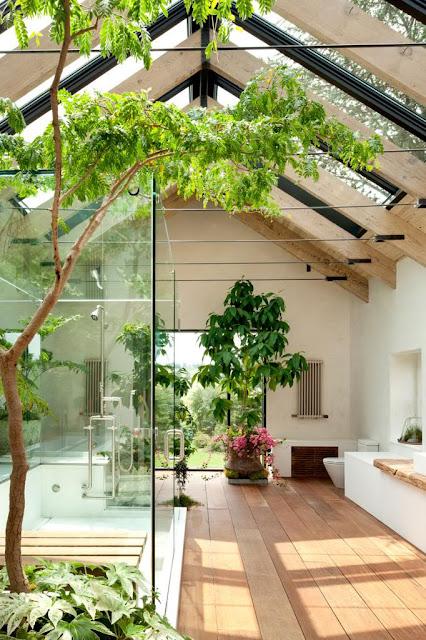die wohngalerie pflanzen und licht ins bad bad im leeren dachboden einrichten. Black Bedroom Furniture Sets. Home Design Ideas