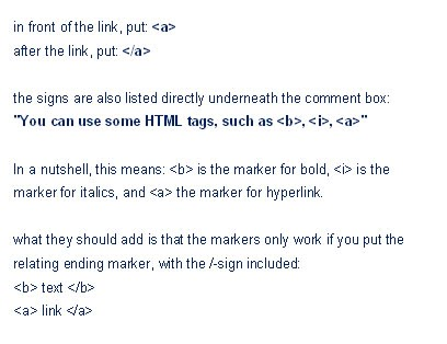 How To Make A Link In A Comment Clickable Blueprint Blog