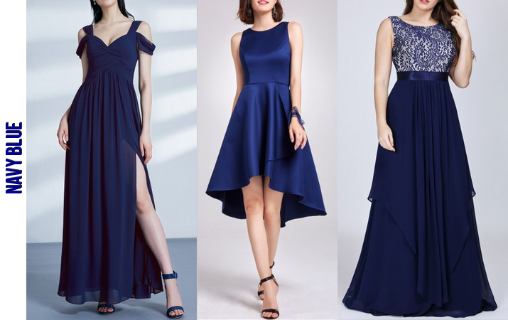 Navy Blue Bridesmaid Dresses ever-pretty