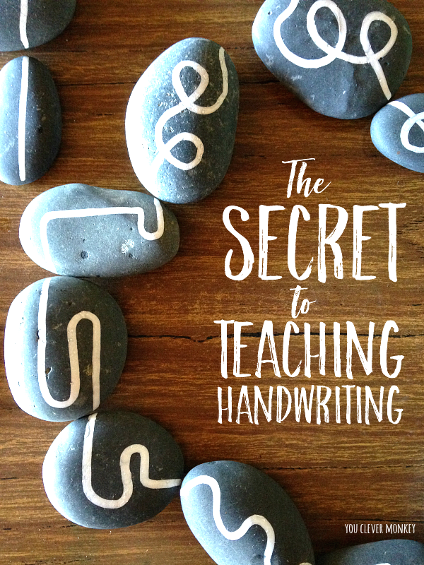 The Secret of How to Teach Handwriting - one simple DIY project you can use to effectively teach handwriting to prewriters | you clever monkey