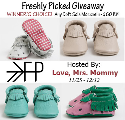 Enter the Freshly Picked Moccasin Giveaway. Ends 12/12
