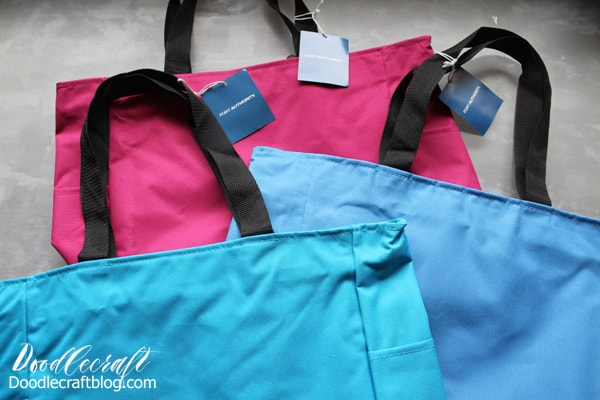 Add custom iron on vinyl to tote bags as the perfect alternative to Easter baskets