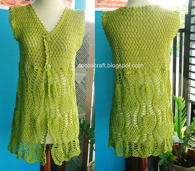 Green Cardigan Free Crochet Pattern
