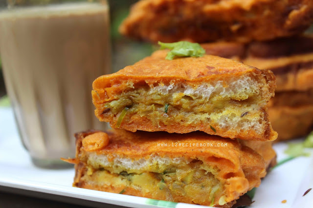 potato Stuffed Bread Pakoda