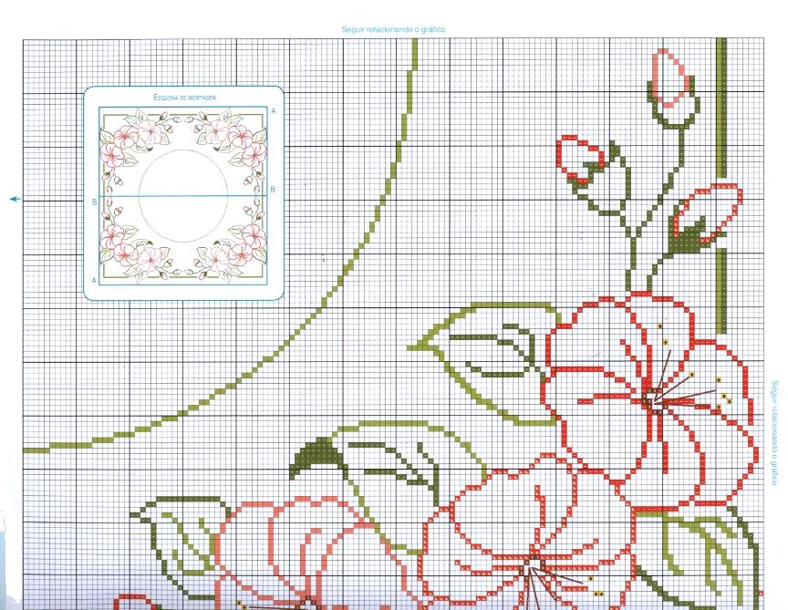 Grande raccolta di schemi e grafici per punto croce free - Stoffe per tovaglie da tavola ...