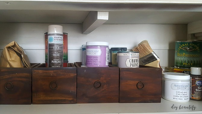 small drawers for paint supplies