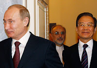 Chinese PM with Russia's Putin and Iranian FM