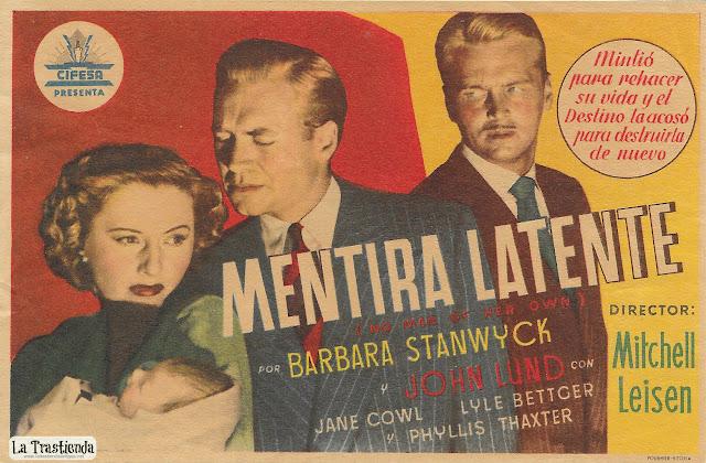 Mentira Latente - Programa de Cine - Barbara Stanwyck - John Lund