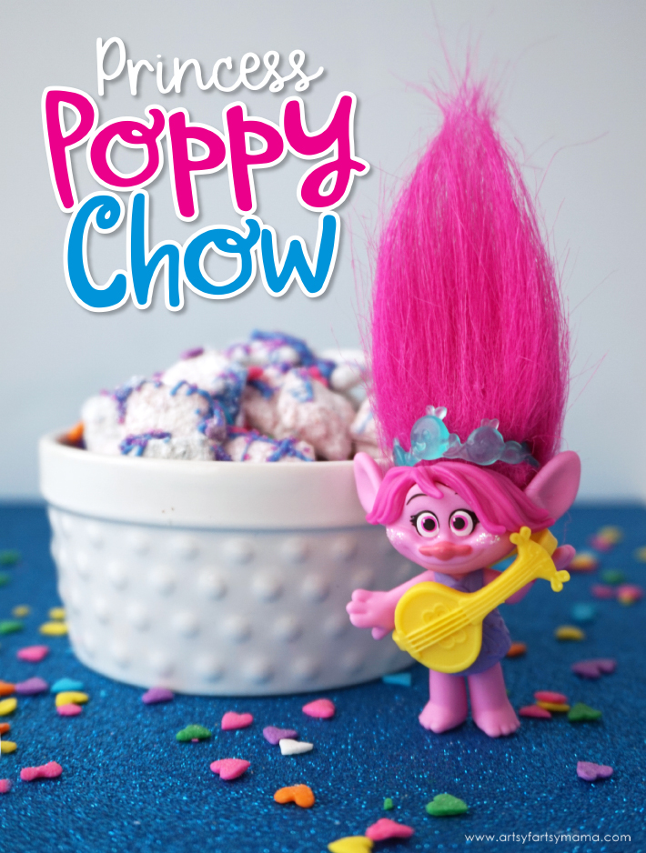 "Enjoy some delicious Trolls ""Princess Poppy"" Chow while binge-watching Trolls on Netflix!"