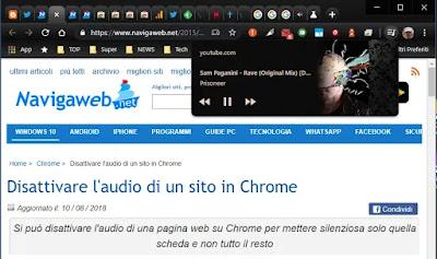 controllo video Chrome