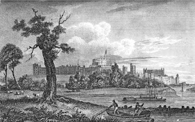 Windsor Castle  from Memoirs of Queen Charlotte by WC Oulton (1819)
