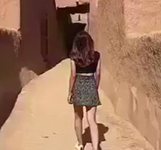 A girl wearing a miniskirt in Saudi Arabia