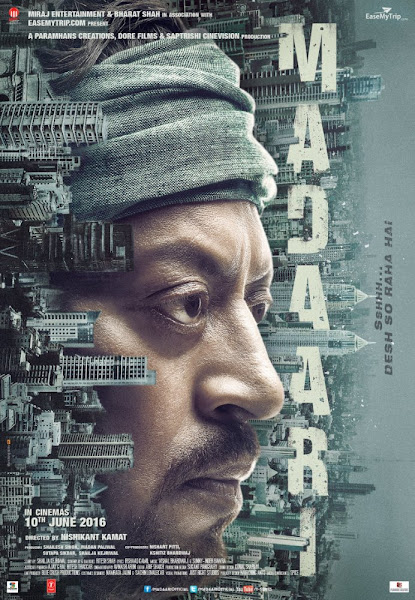 Poster of Madaari 2016 720p Hindi HDRip Full Movie Download