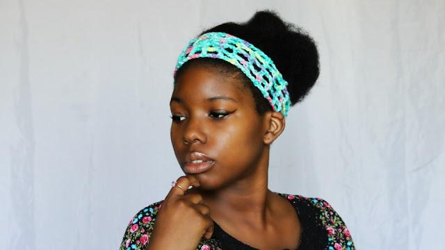 DIY // Free Crochet Pattern // Crochet Granny Squared Open Headband.