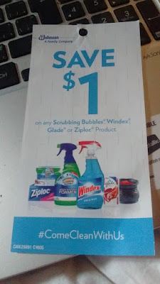Coupon for Glade, Scrubbing Bubbles, Windex, Lysol